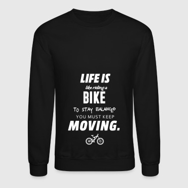 Riding a bike - Crewneck Sweatshirt