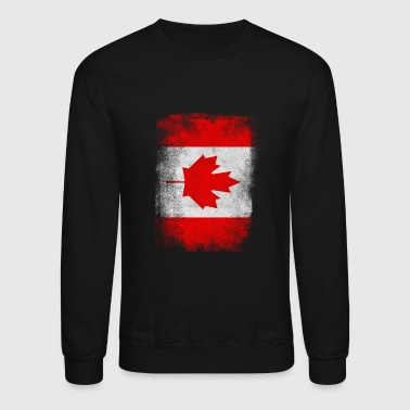 Canada Canada Flag Proud Canadian Vintage Distressed - Crewneck Sweatshirt