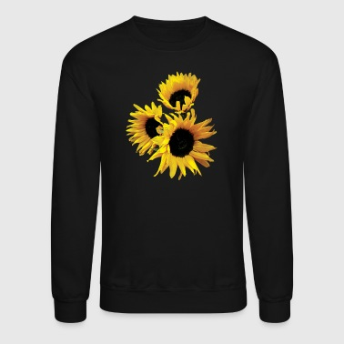 Three Yellow Sunflowers - Crewneck Sweatshirt
