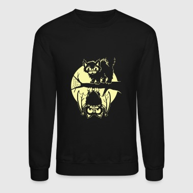 Cat And Bat - Crewneck Sweatshirt