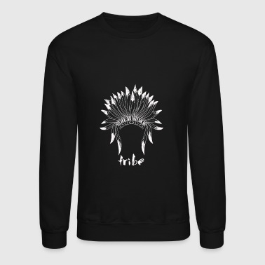 Tribe (Native American White) - Crewneck Sweatshirt