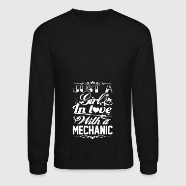 Just A Girl In Love With A Mechanic Shirt - Crewneck Sweatshirt