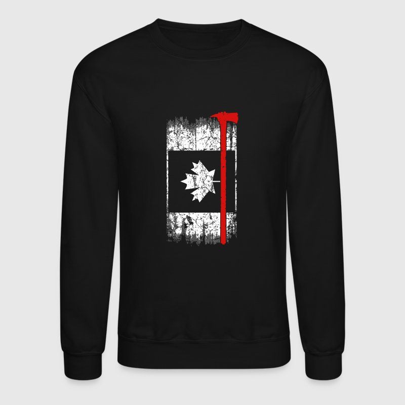 Canadian firefighter - Awesome firefighter t - s - Crewneck Sweatshirt