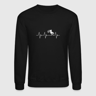 Motorcycle Motorcycle Riding a bike heartbea - Crewneck Sweatshirt