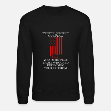Palestinian US flag - Those who died defending your freedom - Crewneck Sweatshirt