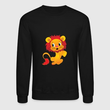 isolated lion - Crewneck Sweatshirt