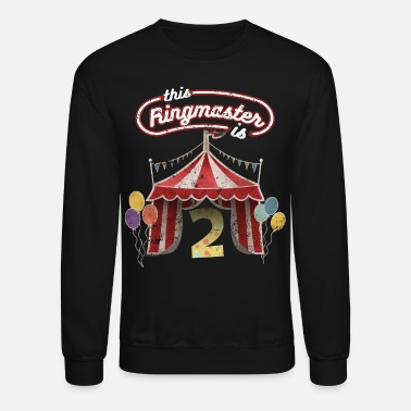 Circus Circus Ringmaster 2nd Birthday Kids - Crewneck Sweatshirt