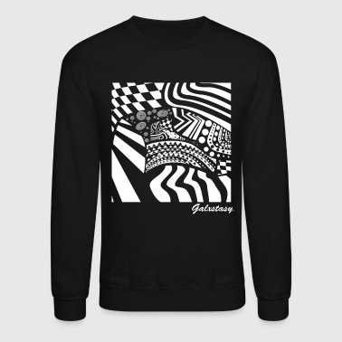 Checkerboard Trippy Abstract - Crewneck Sweatshirt