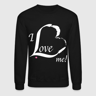 I Love me in white - Crewneck Sweatshirt