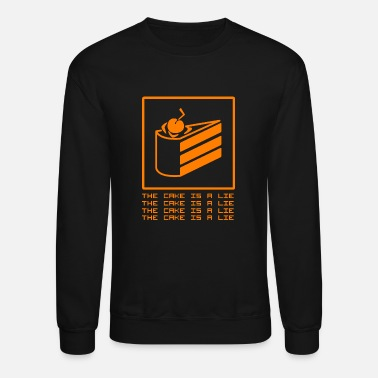 Cake THE CAKE IS A LIE - Unisex Crewneck Sweatshirt