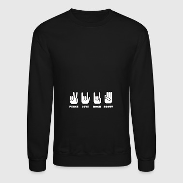 peace love rock scout - Crewneck Sweatshirt