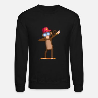 Animal doing dabbing movement - monkey - Crewneck Sweatshirt