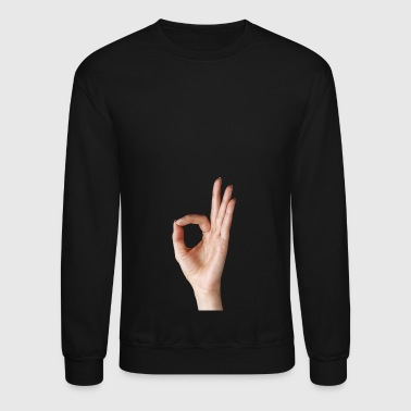 Hand Showing OK holes sign - Crewneck Sweatshirt