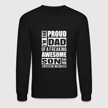 Son - Proud dad of an awesome son - Crewneck Sweatshirt