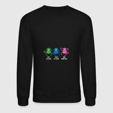 Three Monkeys Talking Nonsense - Crewneck Sweatshirt