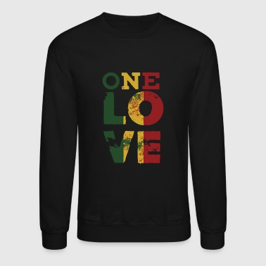 Rasta Logo - one love rasta reggae men women kids - Crewneck Sweatshirt