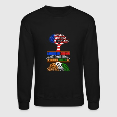 American grown with Indian roots - Crewneck Sweatshirt
