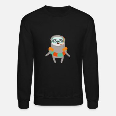Swimsuit Summer Sloth with swimsuit - Crewneck Sweatshirt