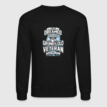 GRUMPY OLD VETERAN - Crewneck Sweatshirt