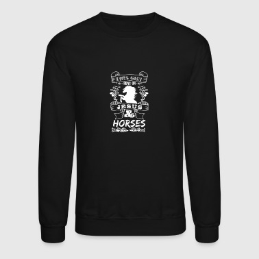 This Girl Runs On Jesus And Horses - Horse Riding - Crewneck Sweatshirt