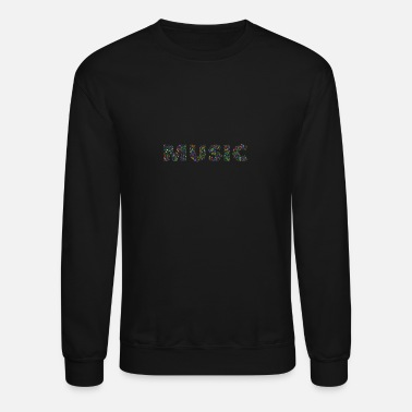 Word music notes word - Crewneck Sweatshirt
