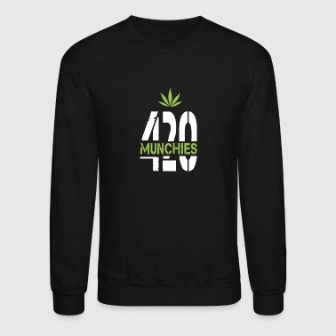 420 Munchies Weed leaf - Crewneck Sweatshirt
