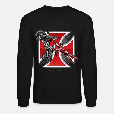 Iron Red Baron Motocross - Unisex Crewneck Sweatshirt
