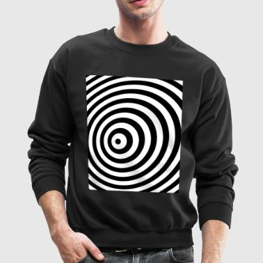 Minimum Geometry Illusion in Black & White(OP-Art) - Crewneck Sweatshirt