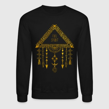 Native American Dreamcatcher Gold Free Spirit - Crewneck Sweatshirt