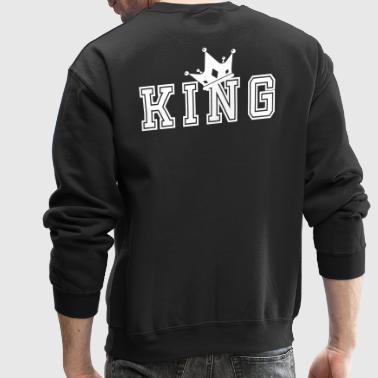 Valentine's Day Matching Couples King Crown - Crewneck Sweatshirt