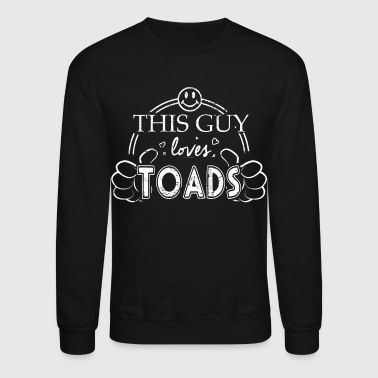 Vertabrate Zoology Shirt Guy Loves Toads Shirt - Crewneck Sweatshirt