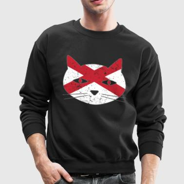 Festive Cat Northern Ireland Flag - Crewneck Sweatshirt