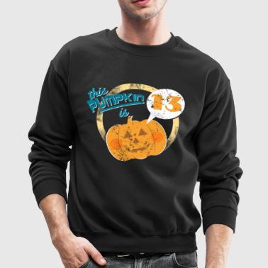 Halloween Pumpkin 13th Birthday - Crewneck Sweatshirt