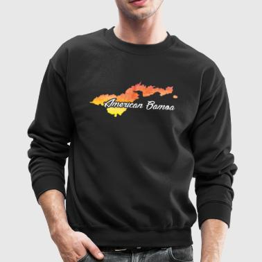 Watercolor Shirt American Samoa Home State Shirt - Crewneck Sweatshirt