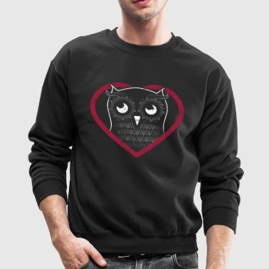 Valentines Day Owl Valentine Shirt Happy Valentines Day - Crewneck Sweatshirt