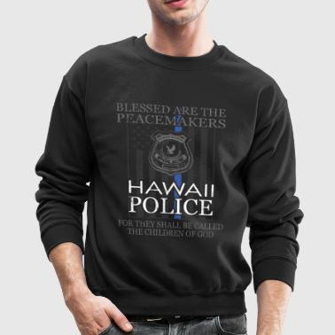 Hawaii Police Support Saint Michael Police Officer Prayer - Crewneck Sweatshirt