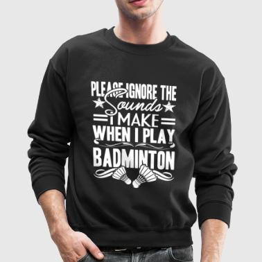 Badminton Player Shirts - Crewneck Sweatshirt
