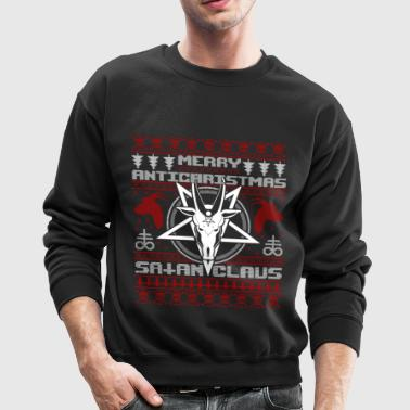 Merry Antichristmas Satan Claus Ugly Sweater Knit - Crewneck Sweatshirt