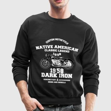 custom motocycle native amrican - Crewneck Sweatshirt