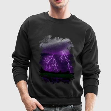Purple Lightning Scene - Crewneck Sweatshirt