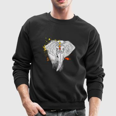 elephat yoga mandala india splash jewels meditatio - Crewneck Sweatshirt