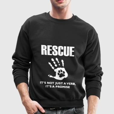 Rescue Dog Shirt - Crewneck Sweatshirt