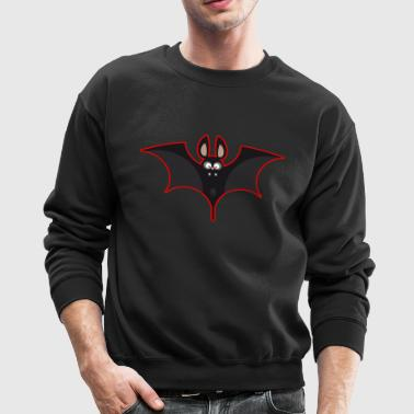 Bat black & red - Crewneck Sweatshirt