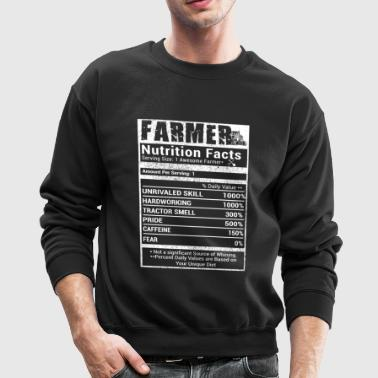 Farmer nutrition facts T Shirts - Crewneck Sweatshirt