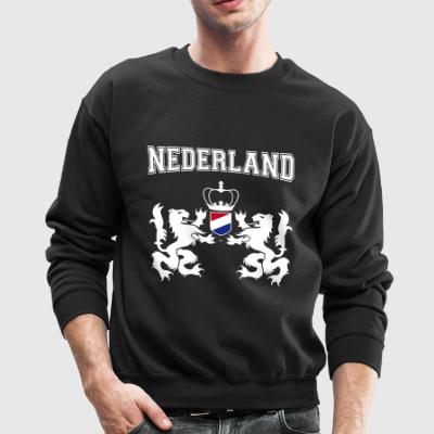 Netherlands coat of arms with laurel wreath - Crewneck Sweatshirt