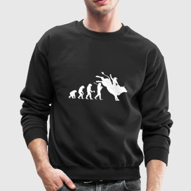 Bull Riding Evolution Shirt - Crewneck Sweatshirt