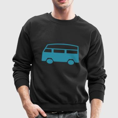 van camping camper outdoor bus coach woods - Crewneck Sweatshirt