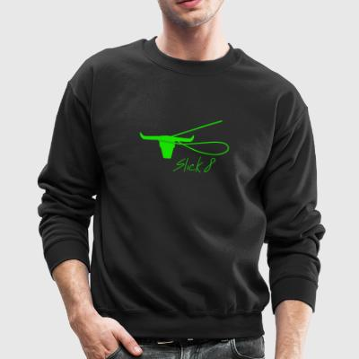 Slick 8, green logo - Crewneck Sweatshirt
