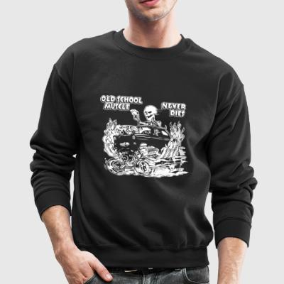 1955 OLD SCHOOL HOT ROD OUTLAW GASSER DRAG CAR BLO - Crewneck Sweatshirt