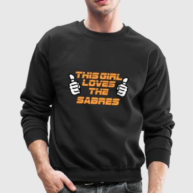 NFL This Girl Loves The SABRES - Crewneck Sweatshirt